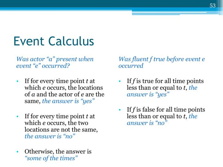 Event Calculus