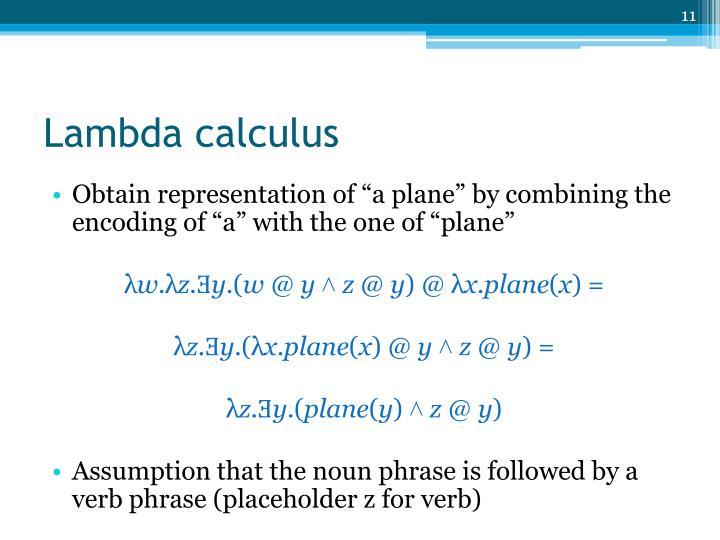 Lambda calculus