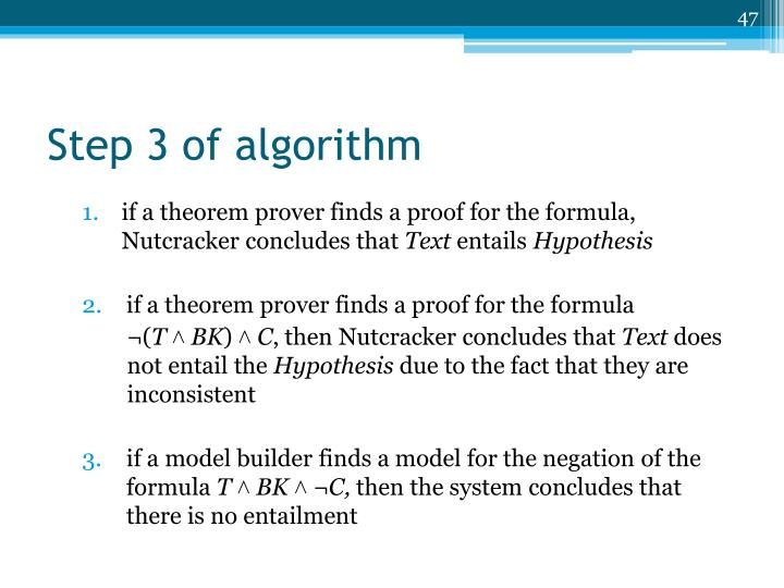 Step 3 of algorithm