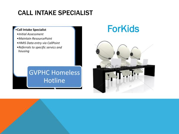 Call Intake Specialist