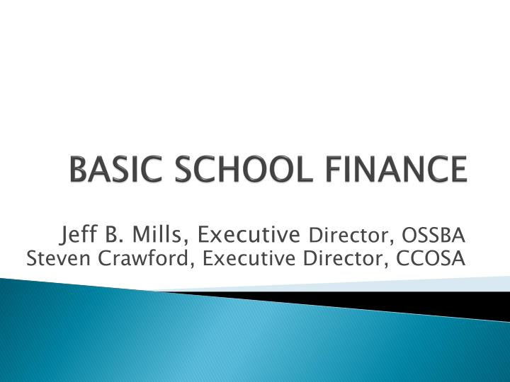 Basic school finance