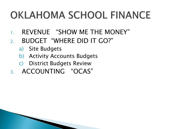 Oklahoma school finance