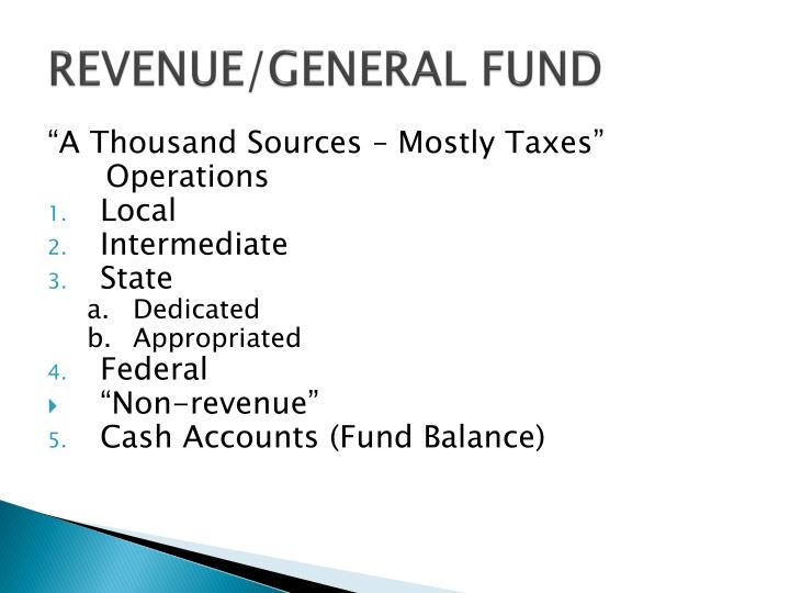 REVENUE/GENERAL FUND