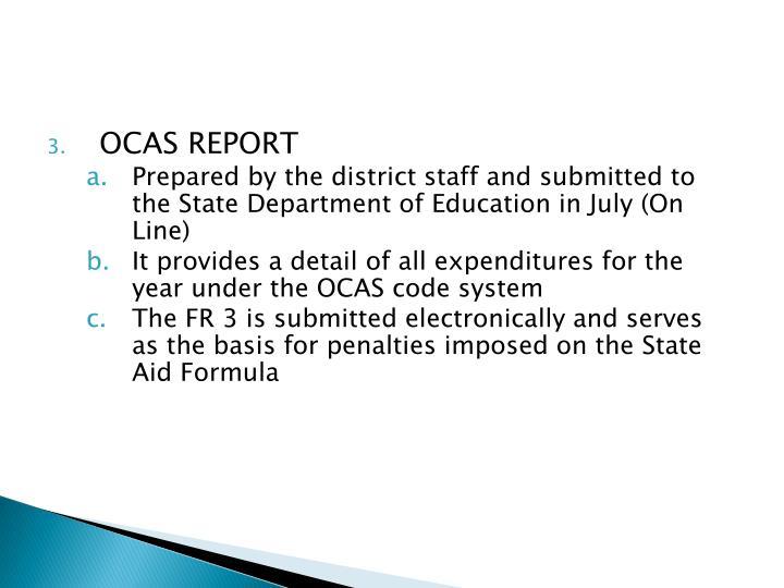OCAS REPORT