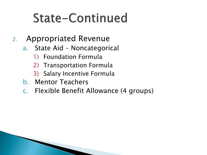 State-Continued