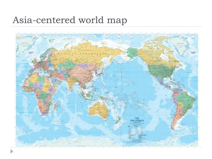 Asia-centered world map