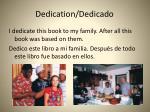 dedication dedicado
