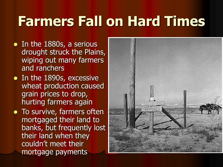 Farmers Fall on Hard Times