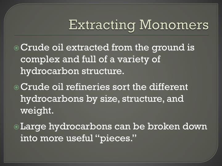 Extracting Monomers
