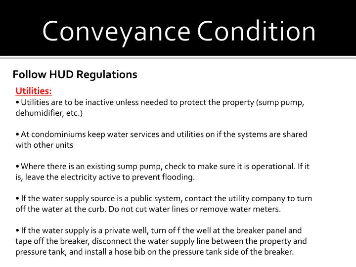 Conveyance Condition