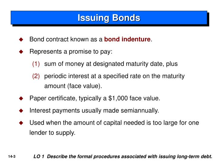 Issuing Bonds