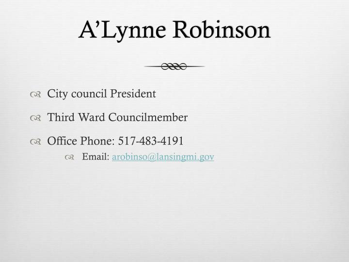 A'Lynne Robinson
