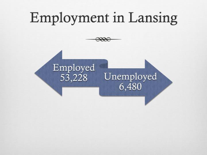 Employment in Lansing