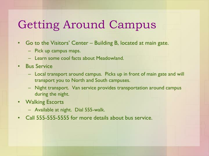 Getting Around Campus