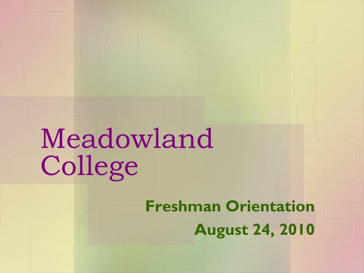 Meadowland college