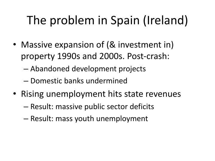 The problem in Spain (Ireland)