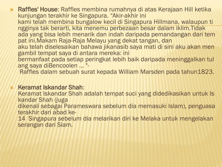 Raffles' House