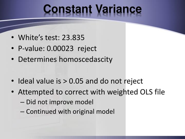 Constant Variance