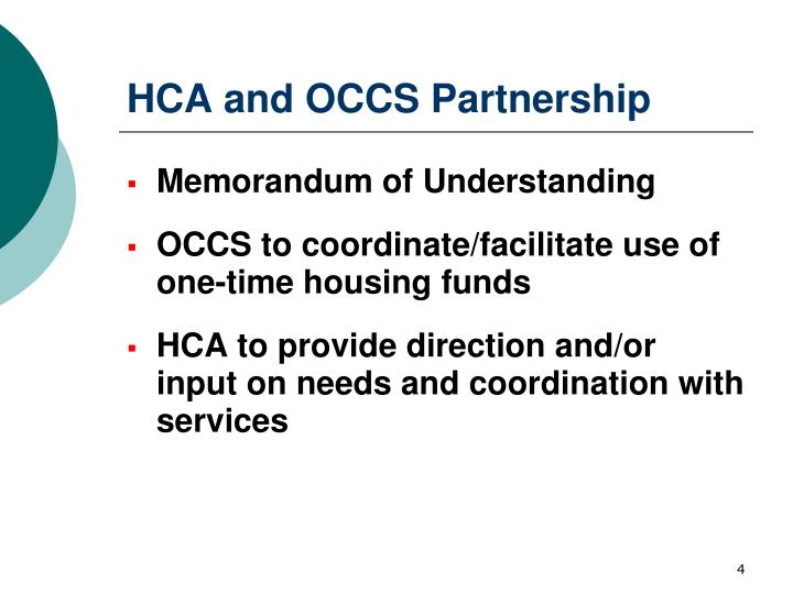 HCA and OCCS Partnership