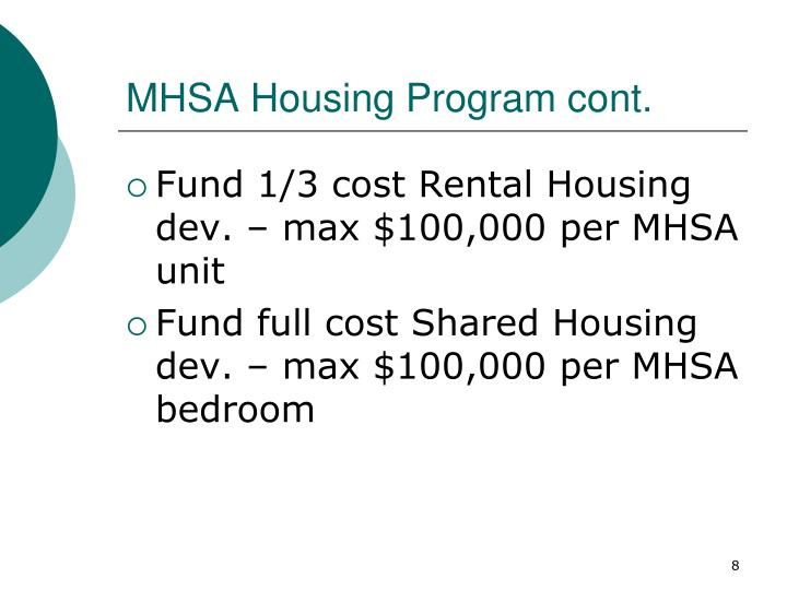 MHSA Housing Program cont.