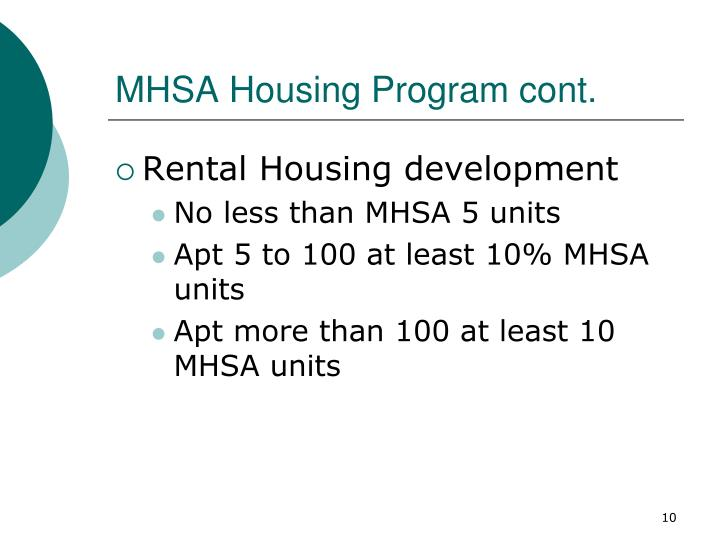 MHSA Housing Program cont.