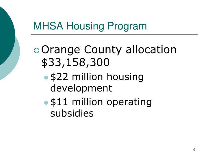 MHSA Housing Program