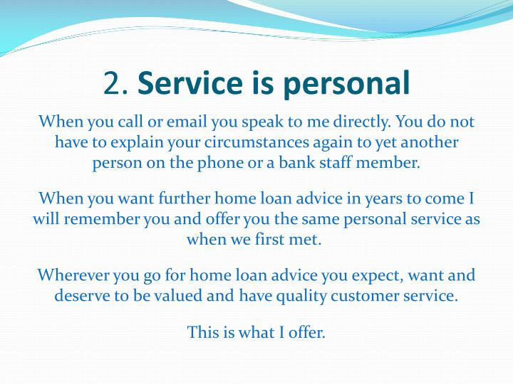 2 service is personal