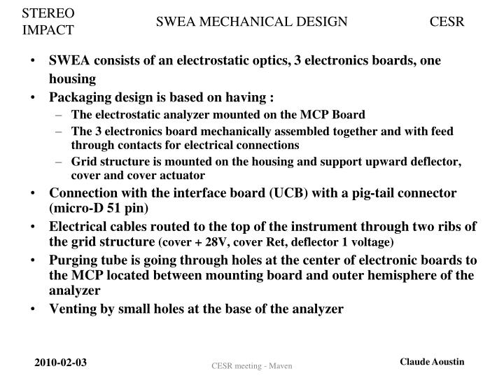 SWEA MECHANICAL DESIGN