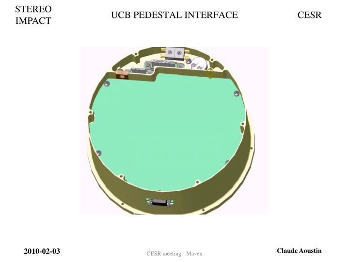 UCB PEDESTAL INTERFACE