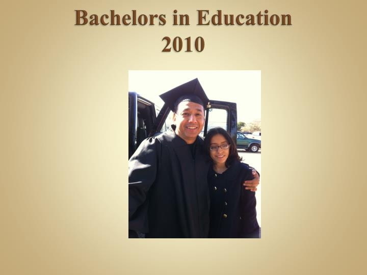 Bachelors in Education