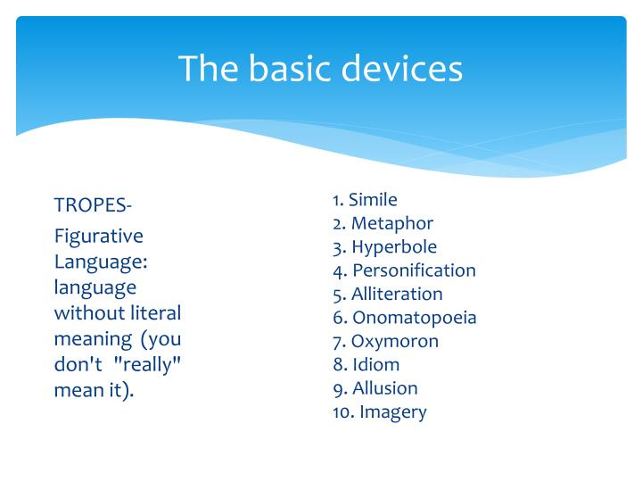 The basic devices