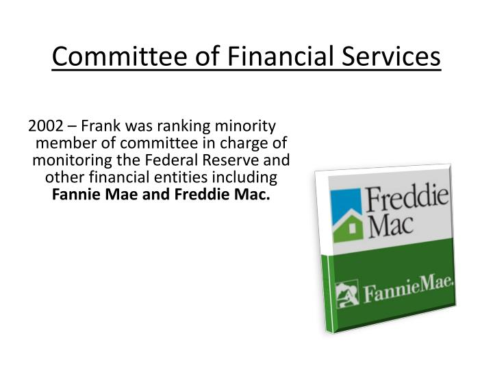 Committee of financial services
