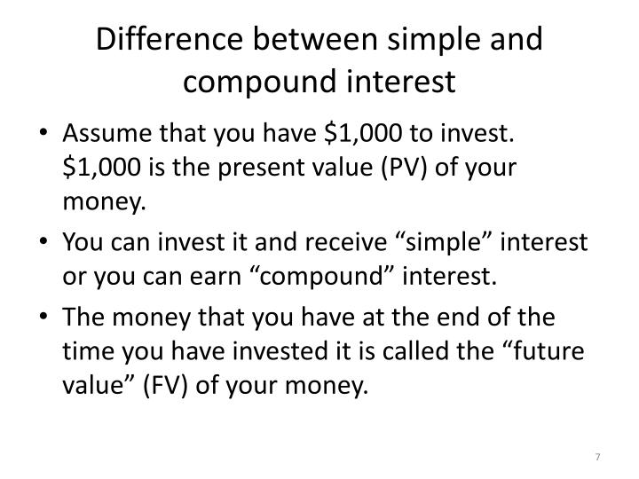 Difference between simple and compound interest
