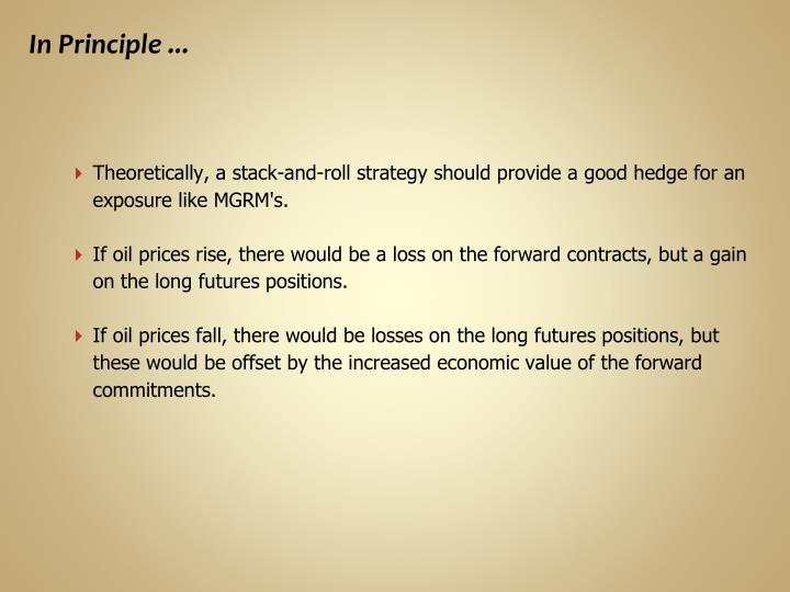 In Principle ...