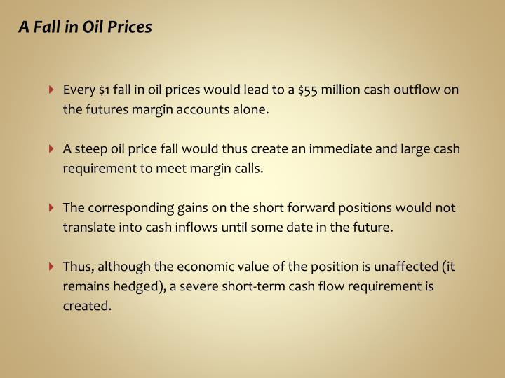 A Fall in Oil Prices
