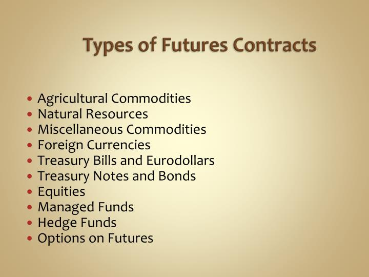 Types of Futures Contracts