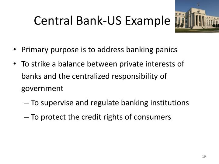 Central Bank-US Example