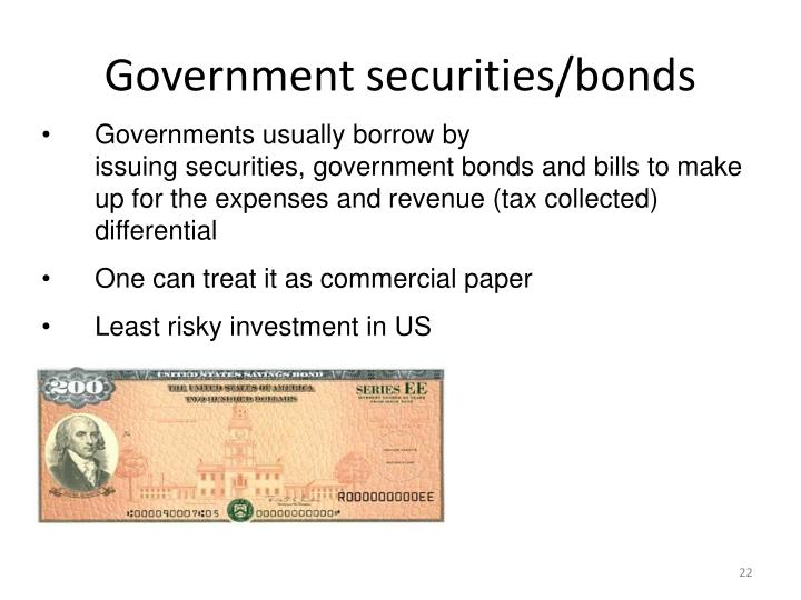 Government securities/bonds