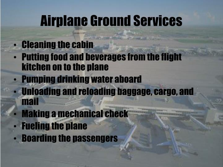 Airplane Ground Services