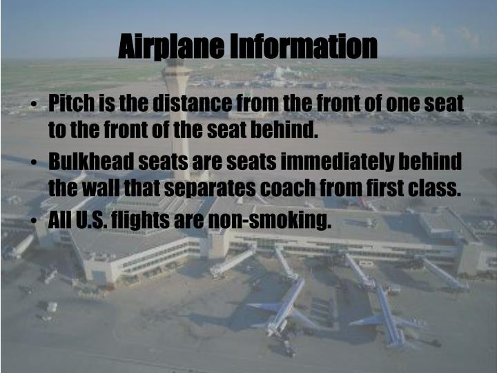 Airplane Information