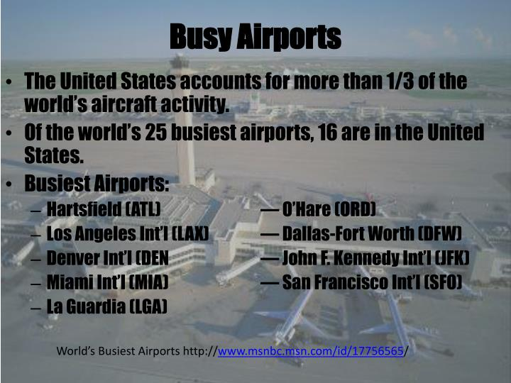 Busy Airports