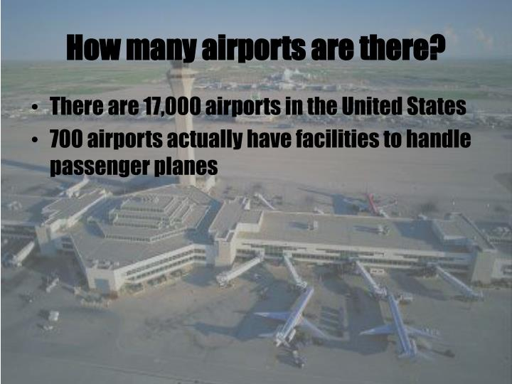 How many airports are there