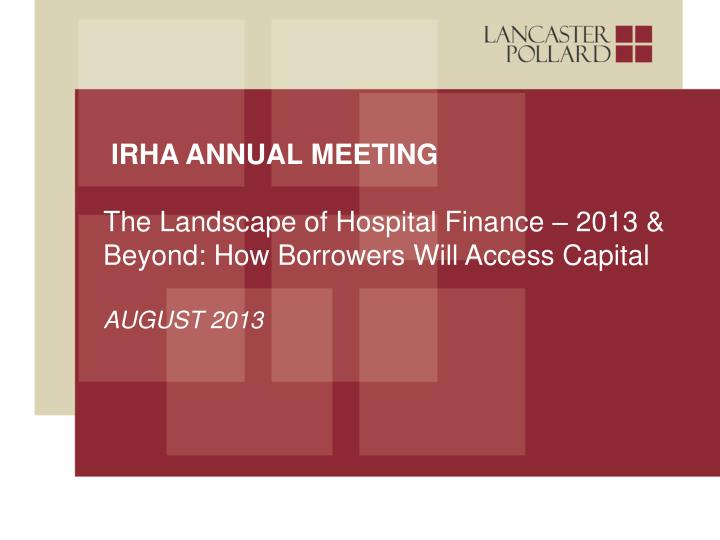 IRHA Annual Meeting