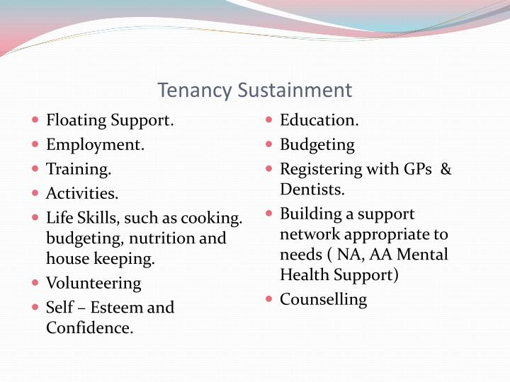 Tenancy Sustainment