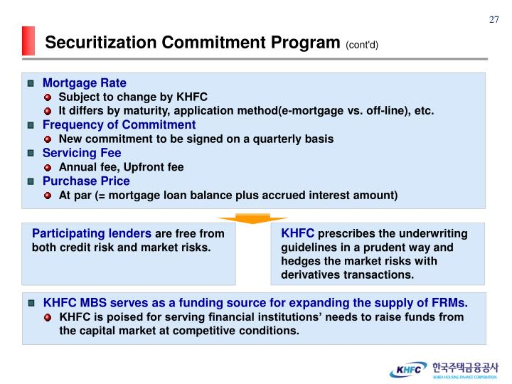 Securitization Commitment Program