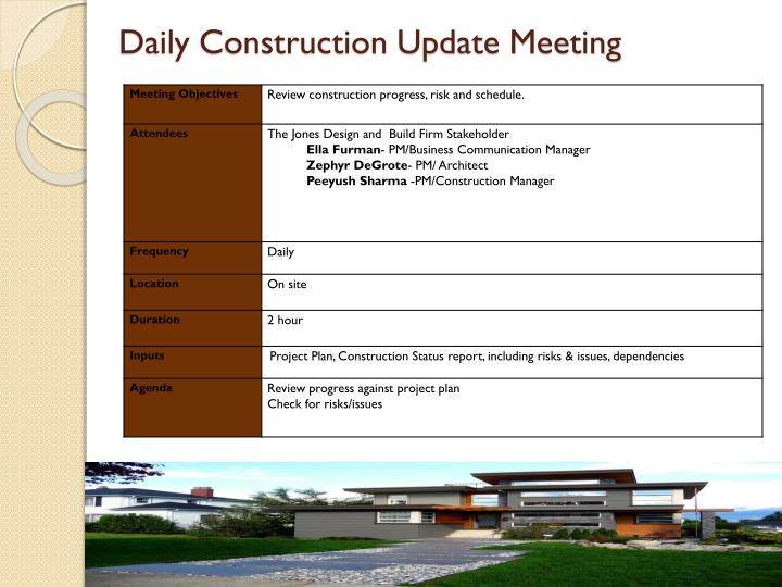 Daily Construction Update Meeting