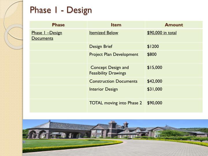 Phase 1 - Design