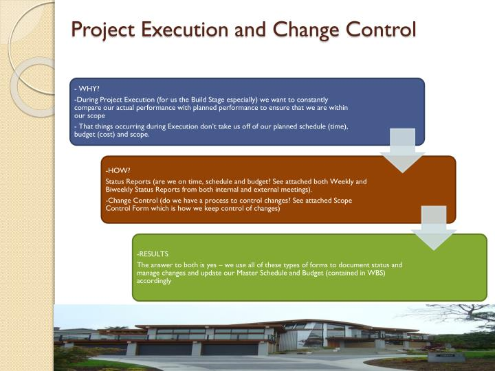 Project Execution and Change Control