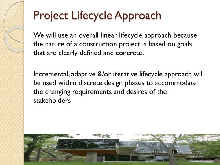 Project Lifecycle Approach