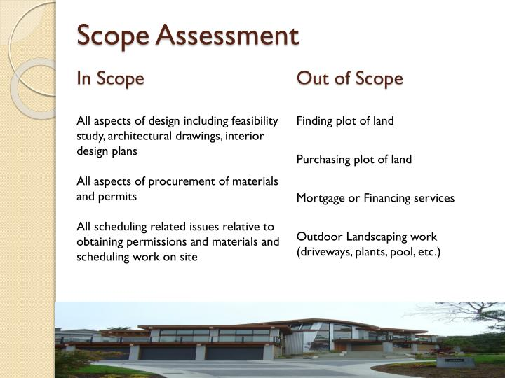 Scope Assessment
